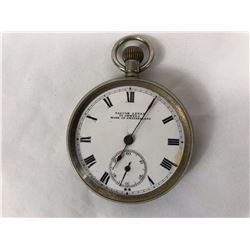 Antique Falcon Swiss Lever 15 Jewels Pocket Watch with Sub Second Dial