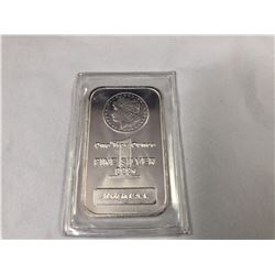 1oz .999 Fine Silver Morgan Design Pure Silver Bar