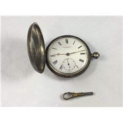 1874 Sterling Silver Fusee Chain Drive Pocket Watch