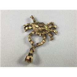 Vintage 14ct Gold Cancer Starsign Bracelet Charm