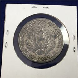 1909 US Barber Silver Half Dollar -Very Fine
