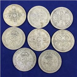 Group of English Silver Florin Coins