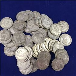 54 x 1934 New Zealand Silver Shilling Coins