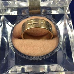 9ct Gold Thick Wedding Band - 16.5mm ID - Weight 2.92 Grams