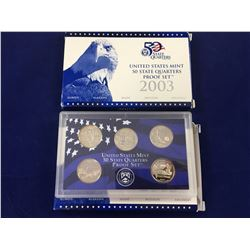 2 x 2003 United States mint 50 state quarters proof set In Case with Box