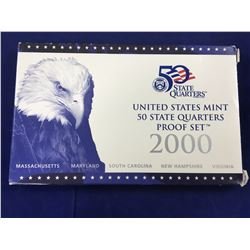 2000 united states mint 50 state quarters proof set In Case with Box