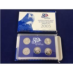 2 x 2005 united states mint 50 state quarters proof set In Case with Box