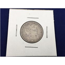 1915D US Barber Silver Quarter Dollar Coin - XF