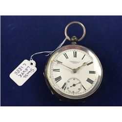 1888 Sterling Silver Skarrat & Co Worcester Swiss Lever Pocket Watch