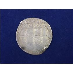 1583 House of Tudor Queen Elizabeth I - Large Hammered silver shilling
