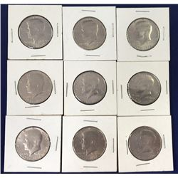 Group of 1776-1976 Kennedy Half Dollar Coins