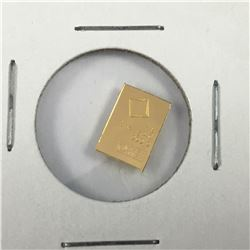 1 Gram Pamp .9999 Pure Gold bar in Plastic