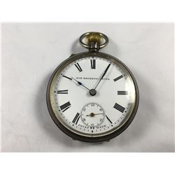 1904 Sterling Silver Pocket Watch with Sweep Dial - Swiss Made Non Magnetic Lever