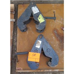 Qty 2 Universal Beam Clamps