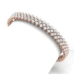 10 CTW Certified SI/I Diamond Bracelet 18K Rose Gold - REF-463X6T - 40044