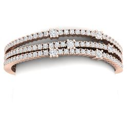 15 CTW Certified VS/SI Diamond Love Bracelet 18K Rose Gold - REF-729N5Y - 39978