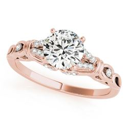 0.70 CTW Certified VS/SI Diamond Solitaire Ring 18K Rose Gold - REF-114K9R - 27862