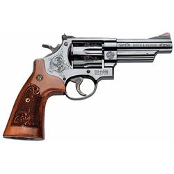 "Smith & Wesson 150783 29 Machine Engraved Single/Double 44 Remington Magnum 4"" 6 Engraved Wood Blued"