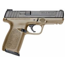 "Smith & Wesson 11998 SD Double 9mm Luger 4"" 16+1 Flat Dark Earth Polymer Grip Black Armornite Stainl"