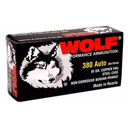 Wolf Military Classic 380ACP 91GR 1000 Rds