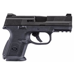 """FN 66771 FNS Double 9mm 3.6"""" 17+1 Black Interchangeable Backstrap Grip Black Stainless Steel"""