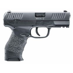 """Walther Arms 2815517 Creed Double 9mm Luger 4"""" 10+1 Black Grip Black Tenifer"""