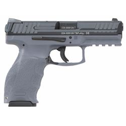 "HK M700009GYA5 VP9 Double 9mm Luger 4.09"" 15+1 2 Mags Gray Interchangeable Backstrap Grip Black"