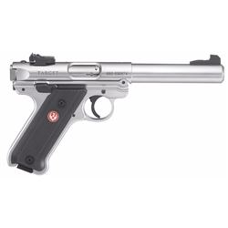 "Ruger 40103 Mark IV Target Double 22 Long Rifle 5.5"" 10+1 Black Synthetic Grip Stainless Steel"