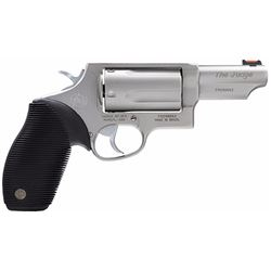 "Taurus 2441039T Judge Single/Double 45 Colt (LC)/410 3"" 5 Black Ribber Grip Stainless"