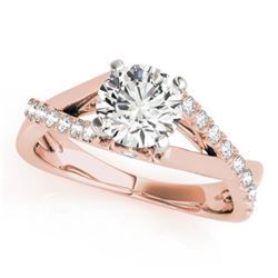 0.77 CTW Certified VS/SI Diamond Solitaire Ring 18K Rose Gold - REF-126W9H - 27499