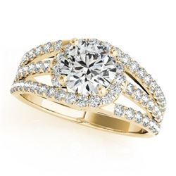 1.25 CTW Certified VS/SI Diamond Solitaire Ring 18K Yellow Gold - REF-225H6W - 27980