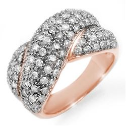 2.05 CTW Certified VS/SI Diamond Ring 14K Rose Gold - REF-154K4R - 14357