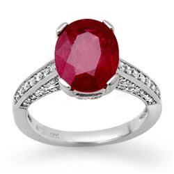 2.80 CTW Ruby & Diamond Ring 18K White Gold - REF-94K5R - 11870