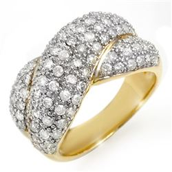 2.05 CTW Certified VS/SI Diamond Ring 14K Yellow Gold - REF-154X4T - 14358
