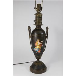 Victorian Bronze Mounted Porcelain Lamp