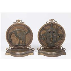 Pair Bronze Figural Bookends, Possibly Oscar Bach