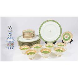 Group Lot Royal Worcester English Porcelain, Glass