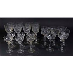 Lot Antique Stemware