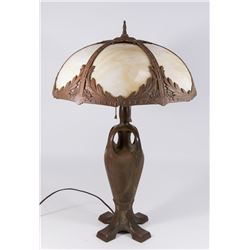 Possibly Handel Slag Glass Shade Lamp
