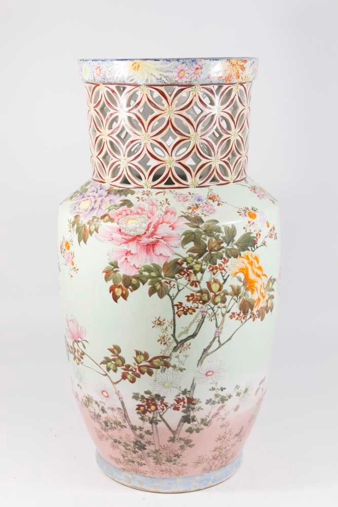 Asian Porcelain Floor Vase/Umbrella Stand on floor sign stand, floor fan stand, floor ornament stand, floor lamp stand, floor plate stand, floor wreath stand, floor column stand, floor umbrella stand, floor cup stand, floor bag stand, floor fruit stand, floor sculpture stand, urn stand, floor clock stand, floor jewelry stand, floor shelf stand, floor vases for home decoration, floor basket stand, floor light stand, floor wine stand,