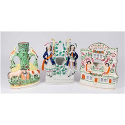 3-19th Century Staffordshire Porcelain Groupings