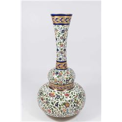 Zsolnay Floral Decorated Vase