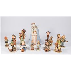 12 Various Hummel Figurines