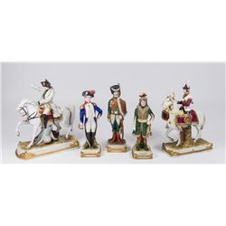 Lot 5 Porcelain Soldiers & Generals