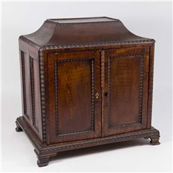 19th Century Mahogany Jewelry Casket