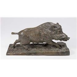 Bronze Sculpture of Wild Boar