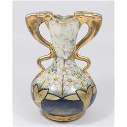 Austria Amphora Partial Gilt Ceramic Vase
