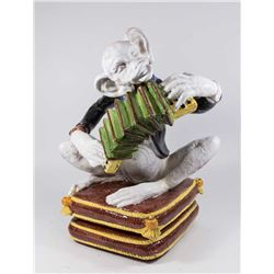 Italian Ceramic Monkey Playing Accordion