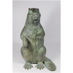 Bronze Sculpture of Beaver