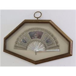 Framed Mother of Pearl Fan